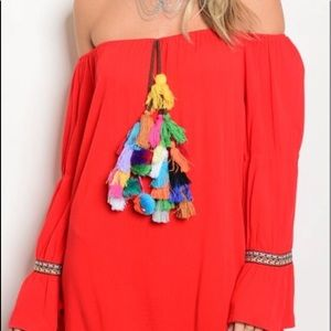 Red Boho tunic/dress